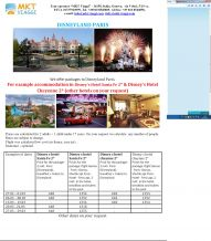 Packages to Paris Disneyland engl